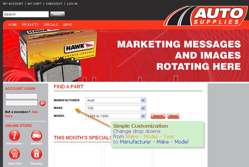 Year Make Model Customization