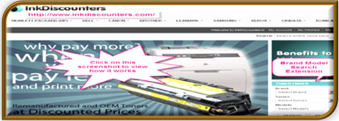 showcase image for brand model search magento extension ink discounters