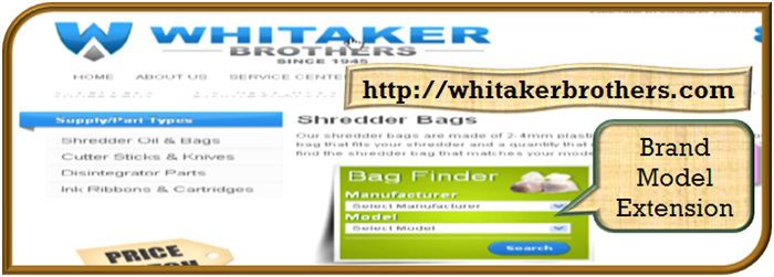 showcase image for brand model search magento extension whitakers